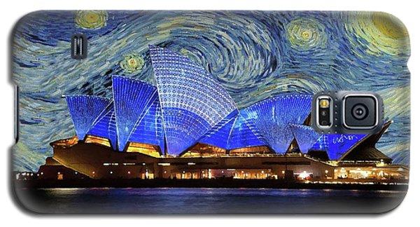 Starry Night Sydney Opera House Galaxy S5 Case by Movie Poster Prints