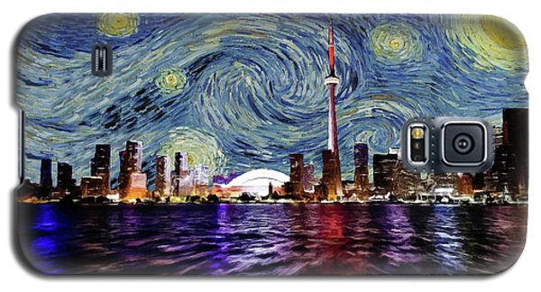 Starry Night Toronto Canada Galaxy S5 Case by Movie Poster Prints