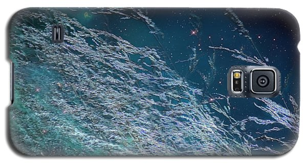 Galaxy S5 Case featuring the photograph Starry Sky Grass by Yulia Kazansky