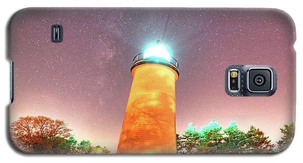 Starry Sky Over The Newburyport Harbor Light Galaxy S5 Case
