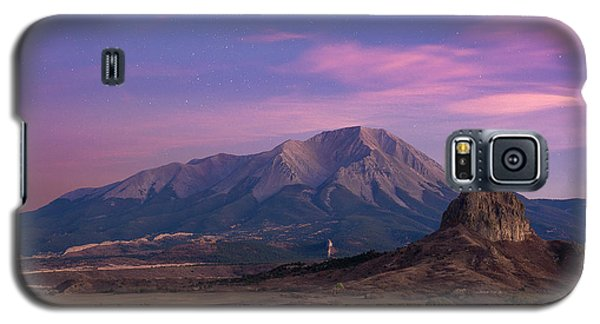 Galaxy S5 Case featuring the photograph Starry Sunset Over West Spanish Peak by Aaron Spong