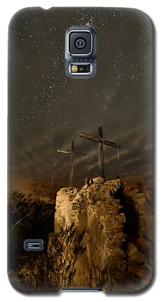 Galaxy S5 Case featuring the photograph Stars And Crosses by Allen Biedrzycki