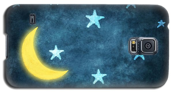 Stars And Moon Drawing With Chalk Galaxy S5 Case