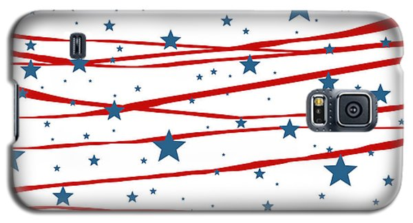 Galaxy S5 Case featuring the digital art Stars And Stripes by Marianna Mills