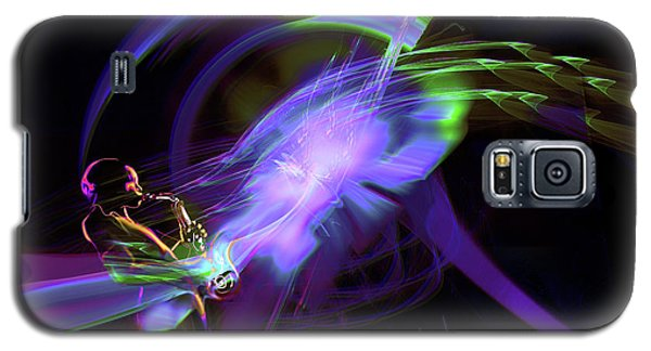 Galaxy S5 Case featuring the painting Starship Saxophone by DC Langer