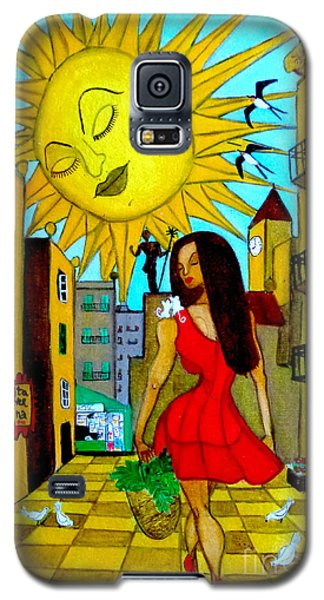 Galaxy S5 Case featuring the painting Starting A New Day by Don Pedro De Gracia