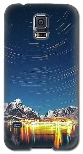 Startrails Above Reine Galaxy S5 Case