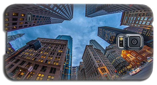 State Street Look Up Boston Ma Galaxy S5 Case