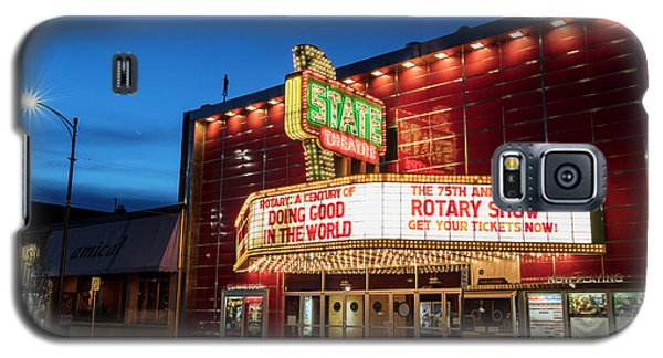 Galaxy S5 Case featuring the photograph State Theatre Traverse City by John McGraw