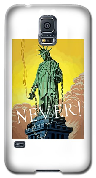 Statue Of Liberty Galaxy S5 Case - Statue Of Liberty In Chains -- Never by War Is Hell Store