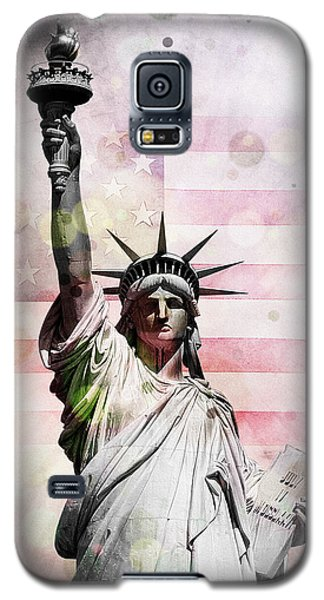 Galaxy S5 Case featuring the digital art Statue Of Liberty by Phil Perkins