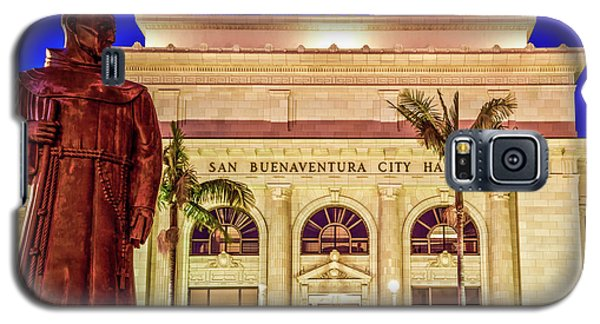 Statue Of Saint Junipero Serra In Front Of San Buenaventura City Hall Galaxy S5 Case by John A Rodriguez