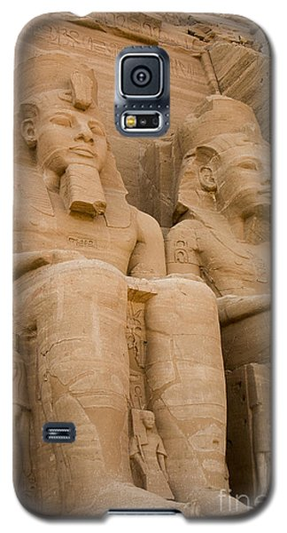 Statues At Abu Simbel Galaxy S5 Case by Darcy Michaelchuk