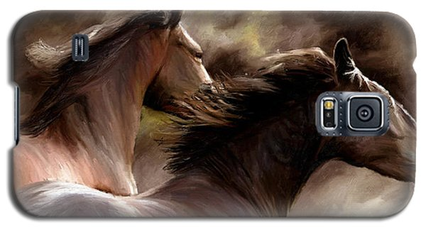 Galaxy S5 Case featuring the painting Stay Together by James Shepherd