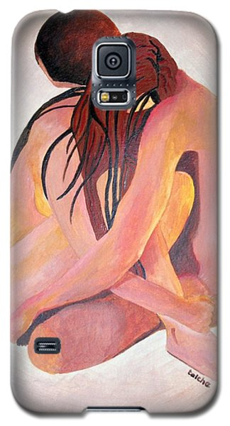 Galaxy S5 Case featuring the painting Staying In Touch by Tracey Harrington-Simpson