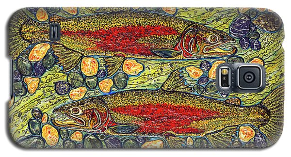 Galaxy S5 Case featuring the painting Stealhead Trout by Debbie Chamberlin