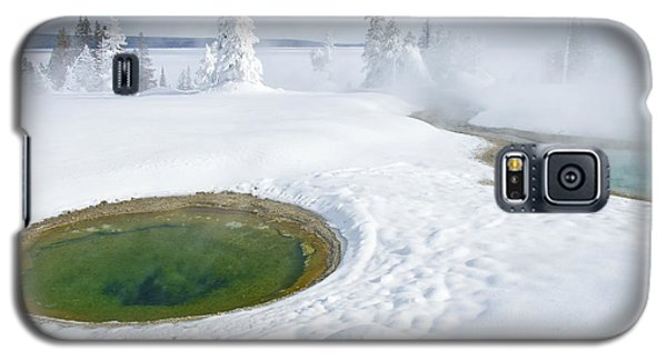 Galaxy S5 Case featuring the photograph Steam And Snow by Gary Lengyel