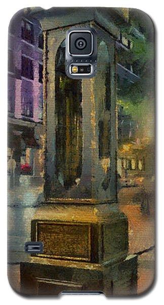 Galaxy S5 Case featuring the digital art Steam Clock Gastown by Jim  Hatch