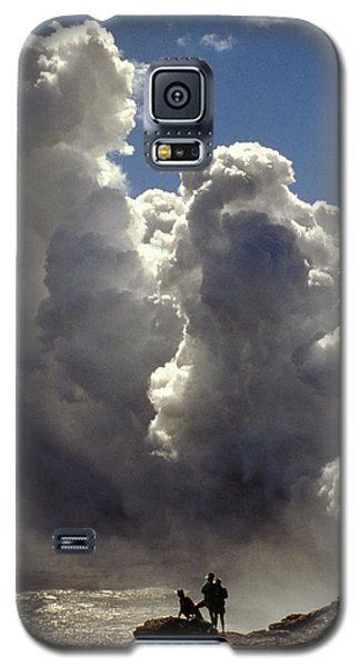 Galaxy S5 Case featuring the photograph Steam From Hot Lava by Carl Purcell