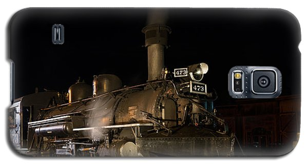 Galaxy S5 Case featuring the photograph Locomotive And Coal Tender On A Turntable Of The Durango And Silverton Narrow Gauge Railroad by Carol M Highsmith