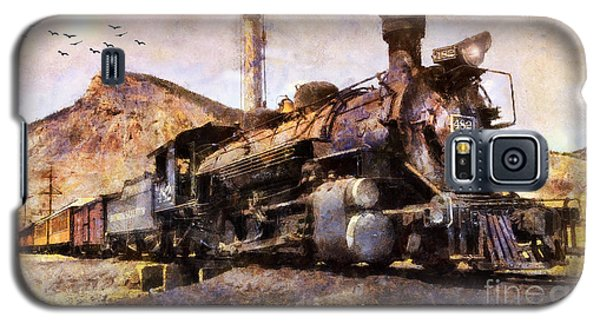 Galaxy S5 Case featuring the digital art Steam Locomotive by Ian Mitchell