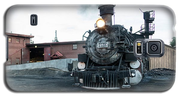Galaxy S5 Case featuring the photograph Steam Locomotive In The Train Yard Of The Durango And Silverton Narrow Gauge Railroad In Durango by Carol M Highsmith
