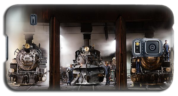 Galaxy S5 Case featuring the photograph Steam Locomotives In The Train Yard Of The Durango And Silverton Narrow Gauge Railroad In Durango by Carol M Highsmith