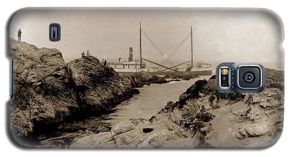 Steam Schooner S S J. B. Stetson, Ran Aground At Cypress Point, Sep. 1934 Galaxy S5 Case