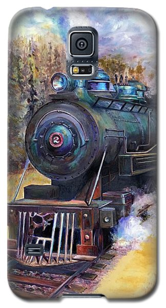 Steam Through The Pines Galaxy S5 Case by Bonnie Goedecke