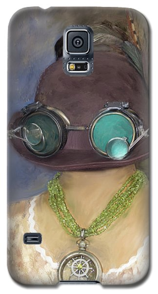Steampunk Beauty With Hat And Goggles - Square Galaxy S5 Case by Betty Denise