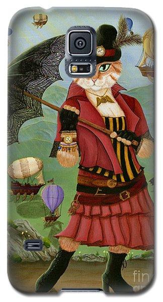 Steampunk Cat Gal - Victorian Cat Galaxy S5 Case
