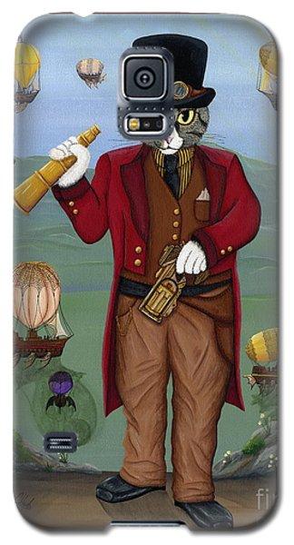 Steampunk Cat Guy - Victorian Cat Galaxy S5 Case