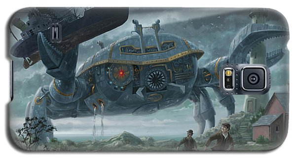 Steampunk Giant Crab Attacks Lighthouse Galaxy S5 Case