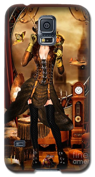 Steampunk Girl Galaxy S5 Case