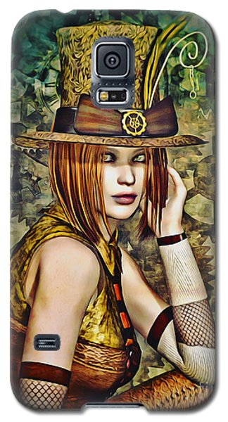 Steampunk Girl Two Galaxy S5 Case