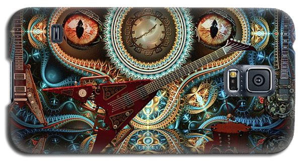 Galaxy S5 Case featuring the digital art Steampunk Guitar by Louis Ferreira
