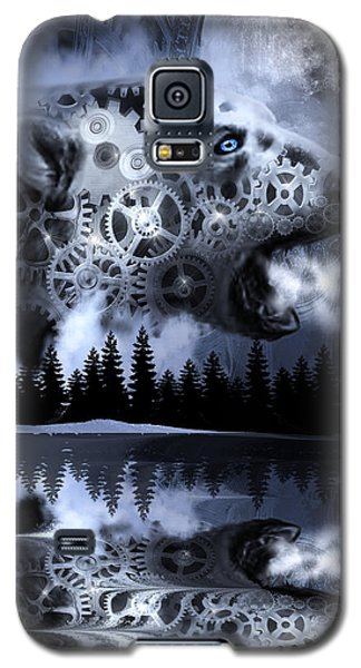 Steampunk Polar Bear Landscape Galaxy S5 Case