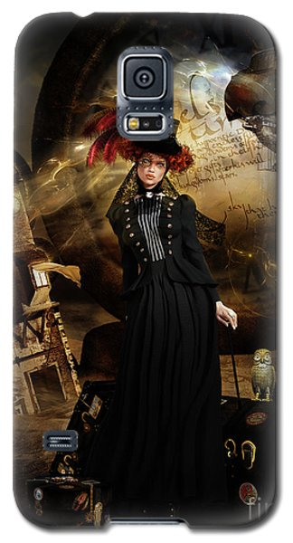 Galaxy S5 Case featuring the digital art Steampunk Time Traveler by Shanina Conway