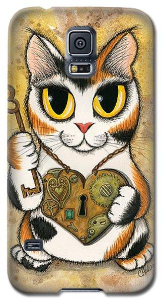 Steampunk Valentine Cat Galaxy S5 Case