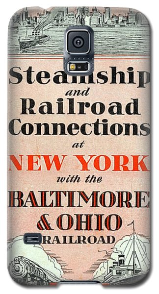 Steamship And Railroad Connections At New York Galaxy S5 Case