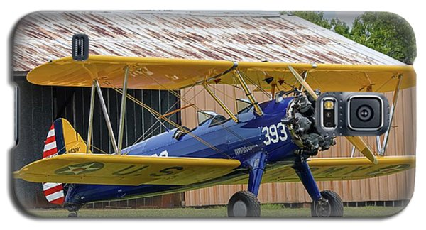 Stearman And Old Hangar Galaxy S5 Case