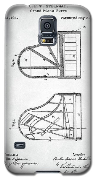 Steinway Grand Piano Patent Galaxy S5 Case by Taylan Apukovska