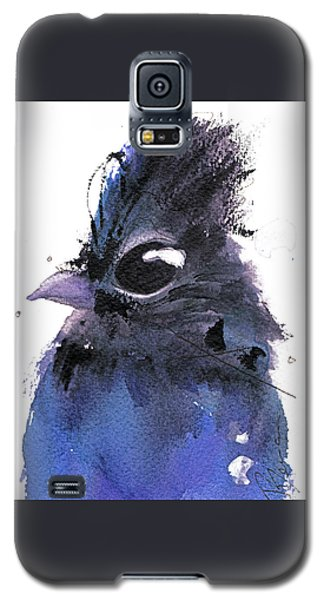 Galaxy S5 Case featuring the painting Steller Jay by Dawn Derman