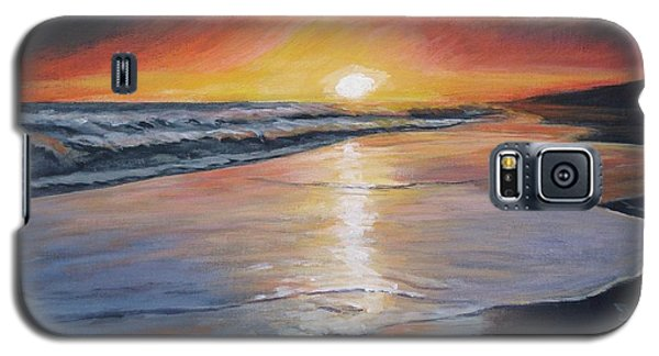 Galaxy S5 Case featuring the painting Stephanie's Sunset by Donna Tuten