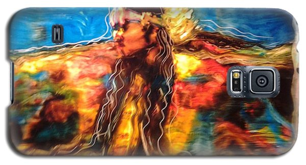 Galaxy S5 Case featuring the painting Stepping Into The Soul by FeatherStone Studio Julie A Miller