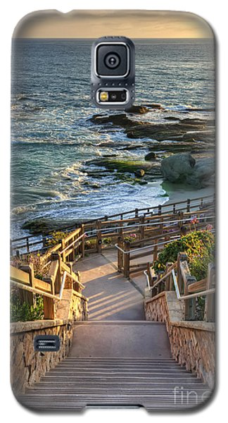 Galaxy S5 Case featuring the photograph Steps To Treasure Island Beach by Eddie Yerkish