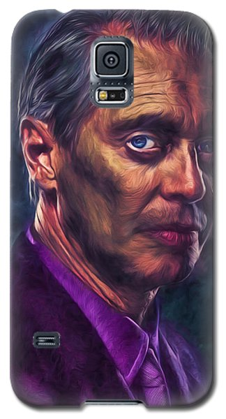 Galaxy S5 Case featuring the photograph Steve Buscemi Actor Painted by David Haskett