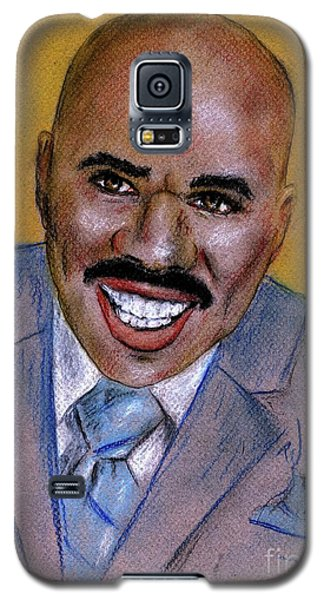 Galaxy S5 Case featuring the drawing Steve Harvey by P J Lewis