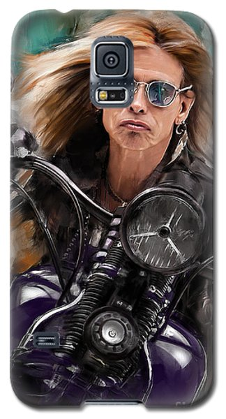 Steven Tyler Galaxy S5 Case - Steven Tyler On A Bike by Melanie D