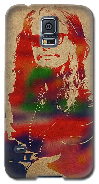 Steven Tyler Galaxy S5 Case - Steven Tyler Watercolor Portrait Aerosmith by Design Turnpike